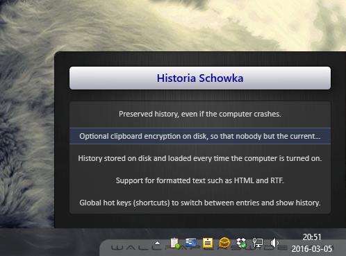 Historia schowka
