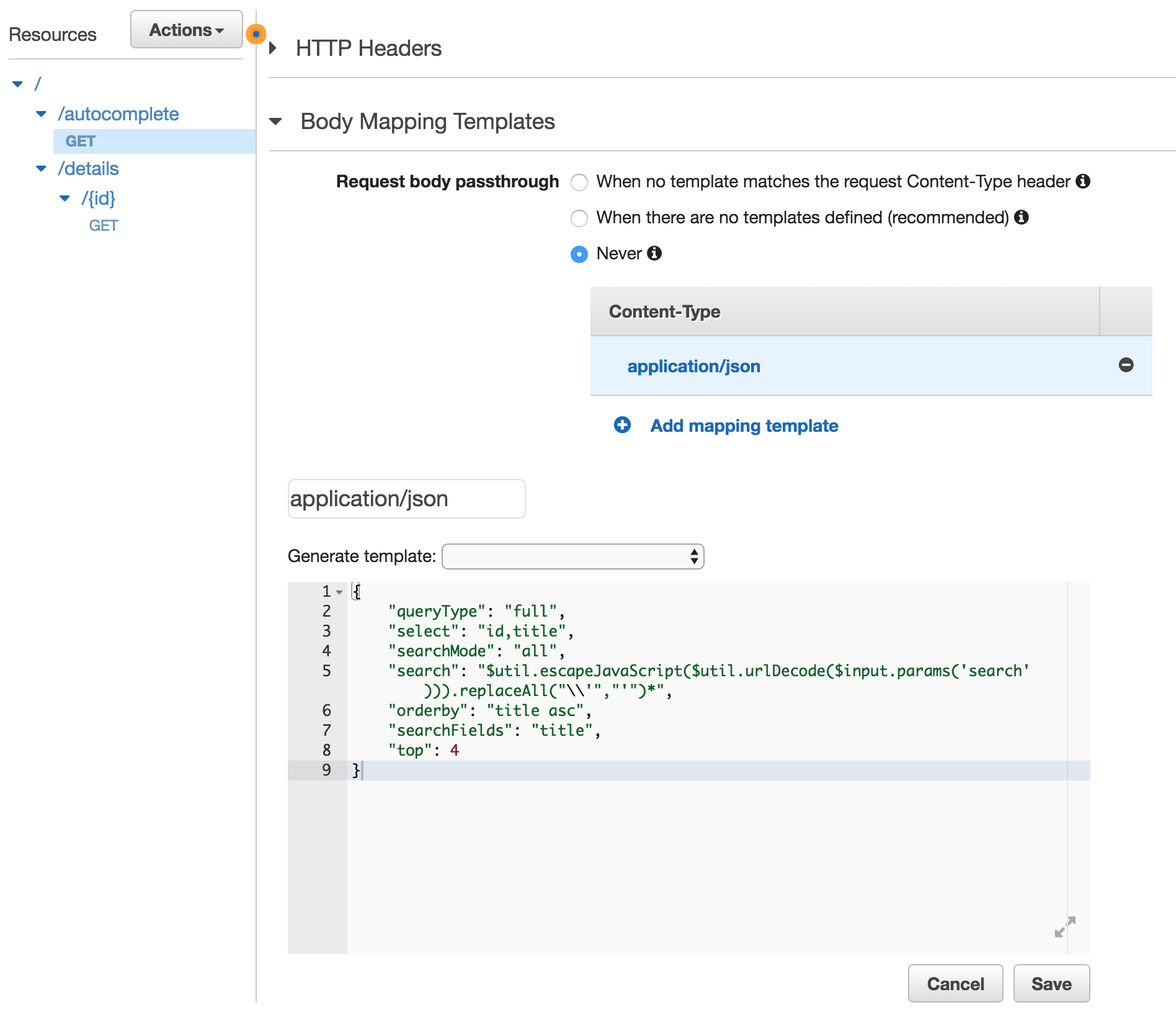 Implement autocomplete feature using Azure Search Service and AWS