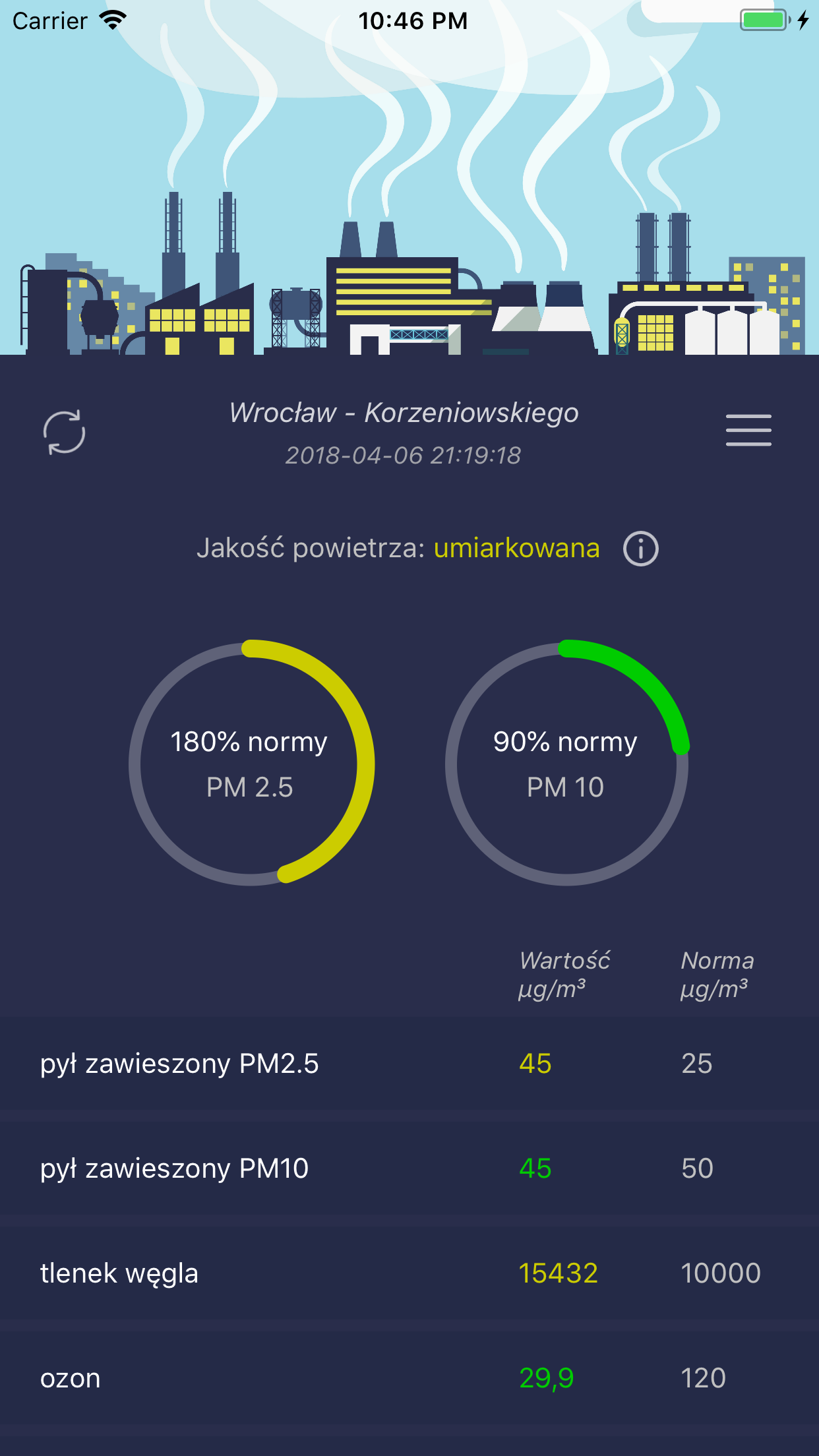 Smog Polska - iPhone
