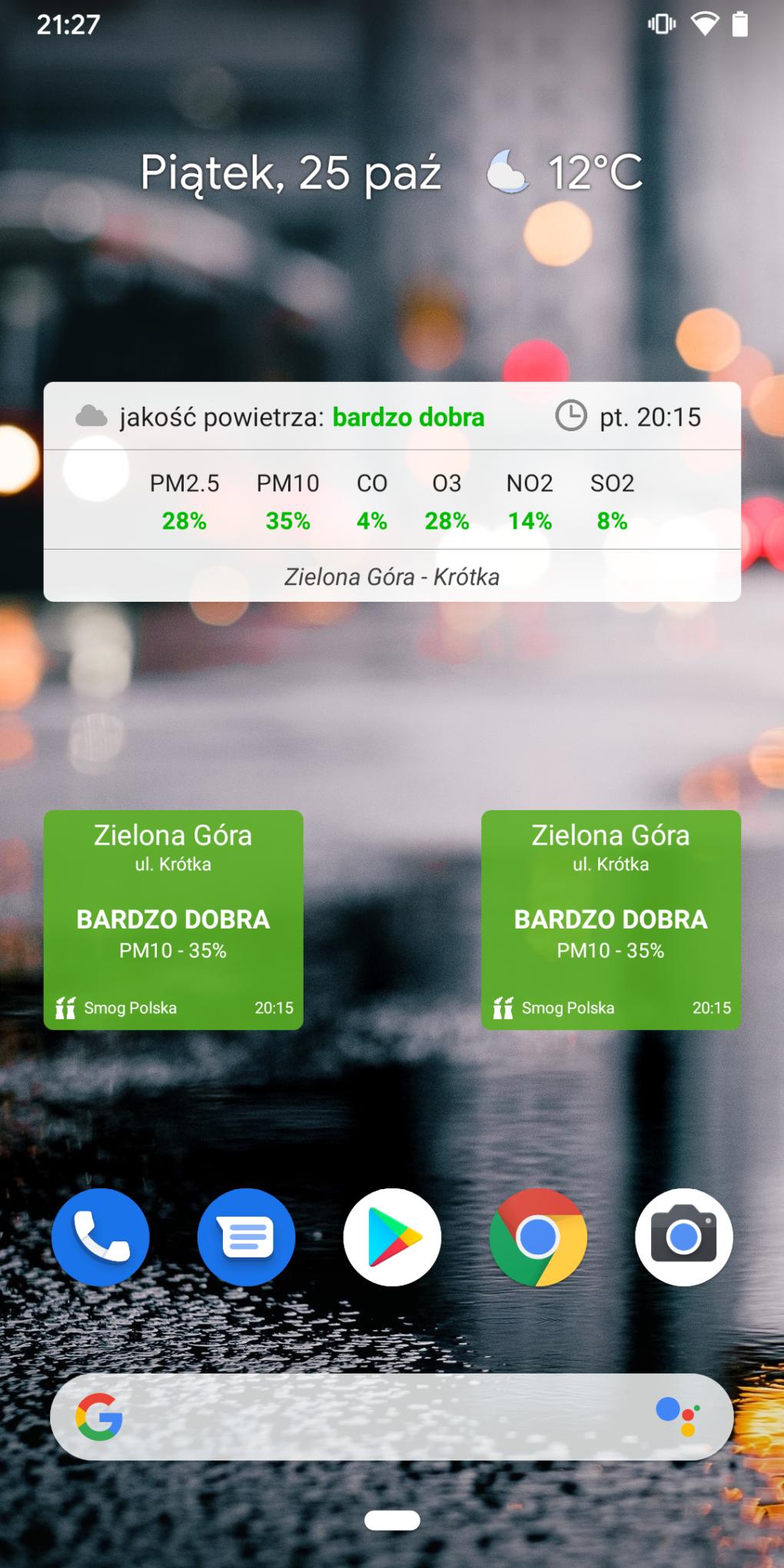 Smog Polska - Android Widget