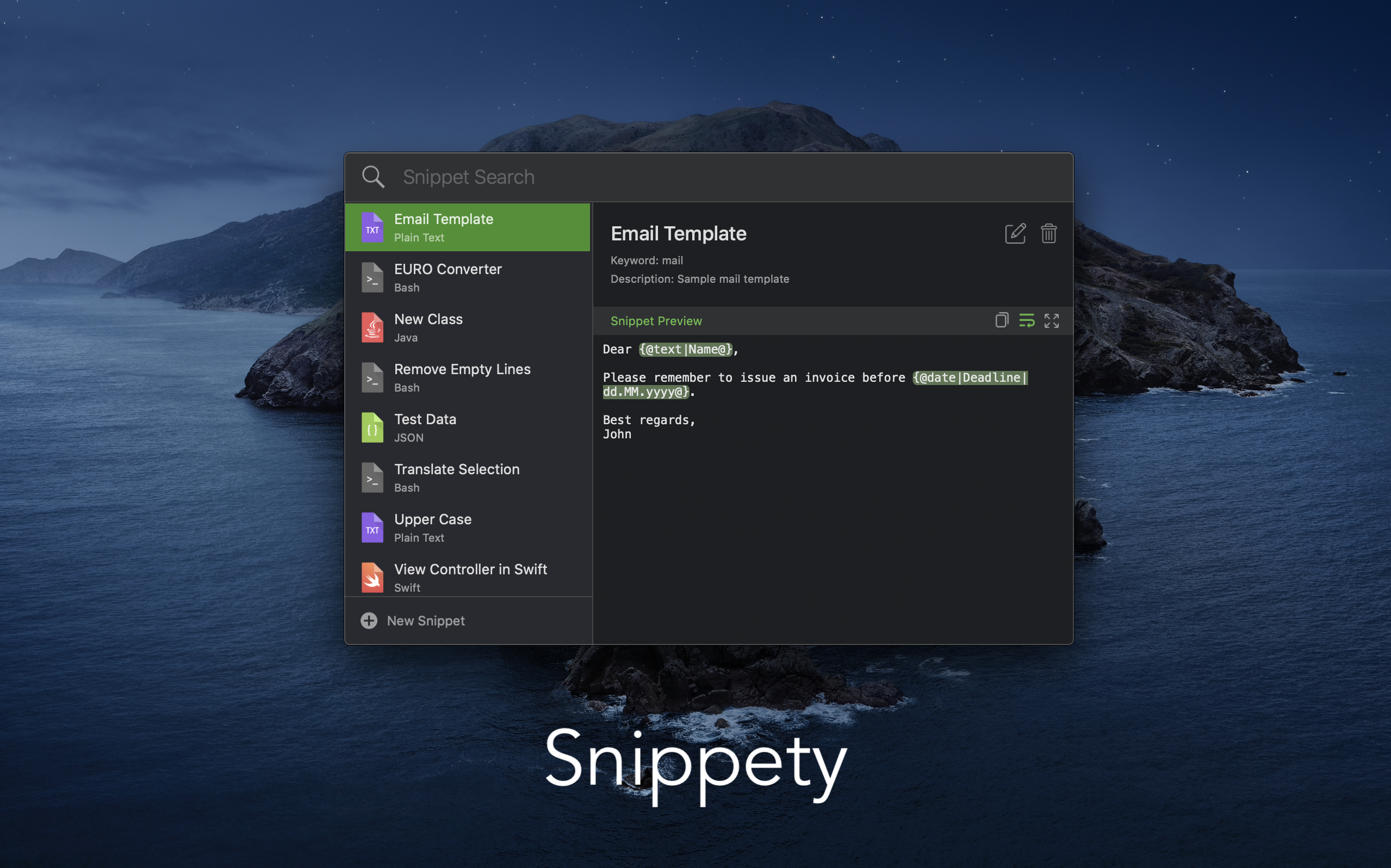 Snippety